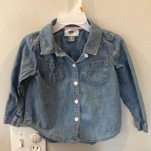 Other - 2T toddler button down denim shirt